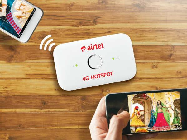 Airtel 4G डिवाइस में मिलेगा 126 जीबी डेटा मुफ्त
