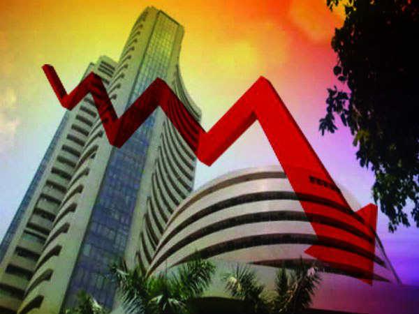 Sensex के गवाईं 1300 अंक की तेजी, लाल निशान पर बंद