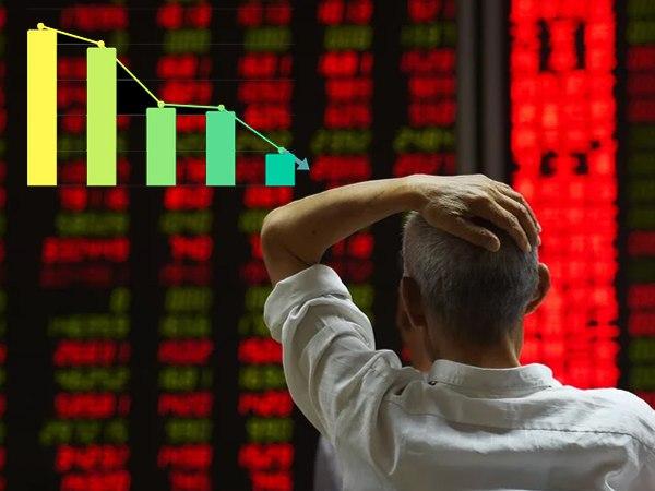 शेयर बाजार में गिरावट, सेंसेक्स 186 अंक टूटकर खुला