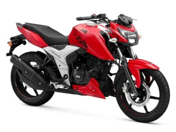 टीव्हीएस मोटारसायकली १ लाखाहून अधिक रुपयेः
