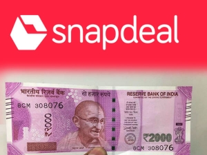 Snapdeal Delivering 2000 Rupees Cash At Your Doorstep