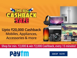 Paytm The Big Cashback Sale Rs 20000 Cashback