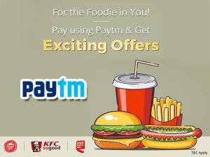 Order Food Via Paytm Get Flat 15 Cashback