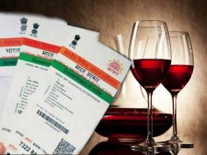 Aadhar Is Mandatory Buy Alcohol Hyderaba Telangana