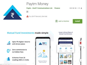 Paytm Money App For Mutual Funds Launched