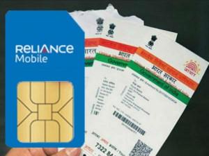 How Link Aadhaar Your Reliance Sim Card