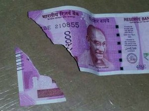 Now Change The Mutilated Notes For Free You Will Get Full Money Back