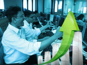 Sensex Rises 337 Points To Open At A Record Level